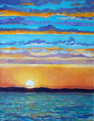 Painting - Bay Sunset by Robert Henne