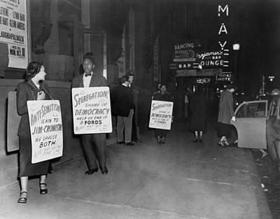 Discrimination Photograph - Bayard Rustin, Mrs. Bowen Jackson by Everett