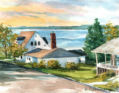 Painting - Bayfield Morning by Kerry Kupferschmidt