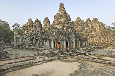Bayon Temple Print by Martin Puddy