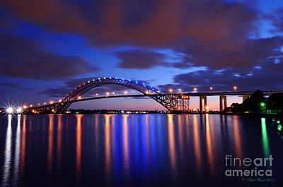Nj Photograph - Bayonne Bridge At Night by Paul Ward
