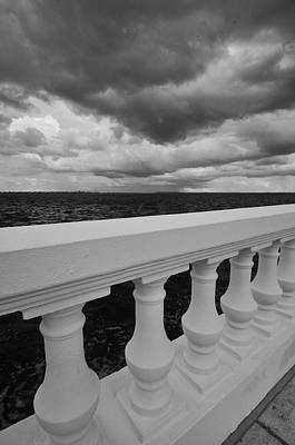 Bayshore Balustrade 3 Art Print by William  Carson Jr