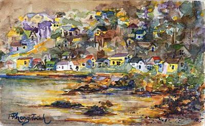Phong Trinh Painting - Bayside At Dusk by Phong Trinh