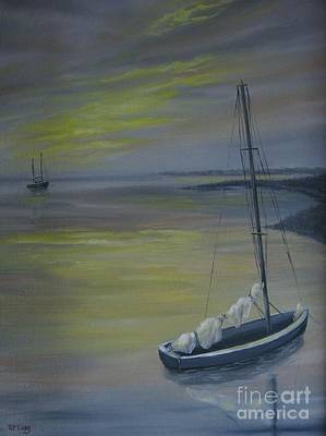 Painting - Bayside Boat by Patricia  Lang