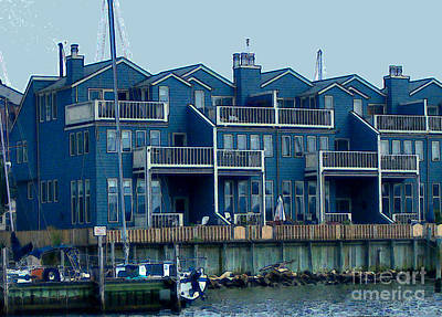 Art Print featuring the painting Bayside Condos by Elinor Mavor