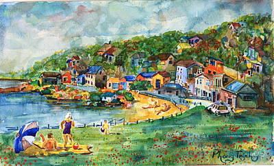Phong Trinh Painting - Bayside In Summer by Phong Trinh
