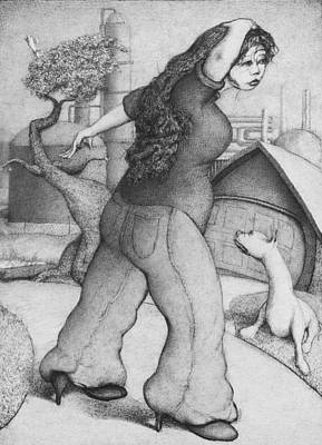 Drawing - Baytown Girl by Louis Gleason