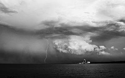Lightning Photograph - Bayview Storm With Lightning by Jennifer Brindley