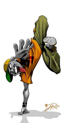 Bboy Pose Art Print by Jay Reed