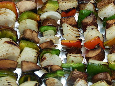 Photograph - Bbq Grilled Vegetables by Richard Bryce and Family
