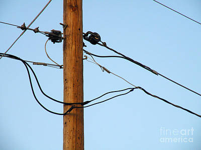 Telephone Poles Photograph - Be Happy by Joe Jake Pratt