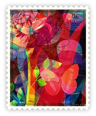 Faniart Africa America Mixed Media - Be Mine By Mail by Fania Simon