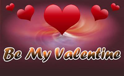 Be My Valentine Digital Art - Be My Valentine by Anthony Caruso