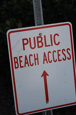 Beach Access Art Print by Static Studios