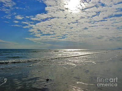 Art Print featuring the photograph Beach At Dawn by Eve Spring