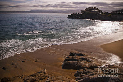 Beach At Monteray Bay Art Print by Darcy Michaelchuk