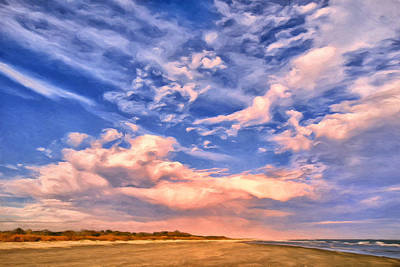 Isle Of Palms Painting - Beach At Sullivan's Island by Dominic Piperata