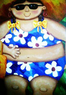 The Nature Center Painting - Beach Babe by Unique Consignment