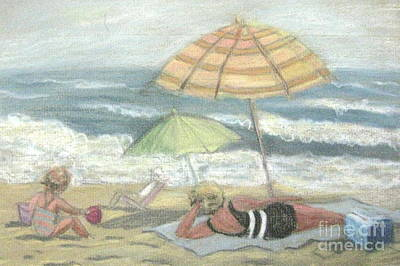 Pastel - Beach Babes by Gretchen Allen