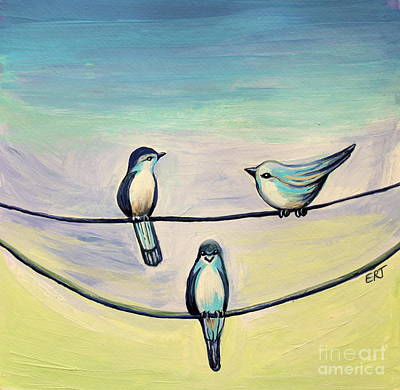 Painting - Beach Birds by Elizabeth Robinette Tyndall