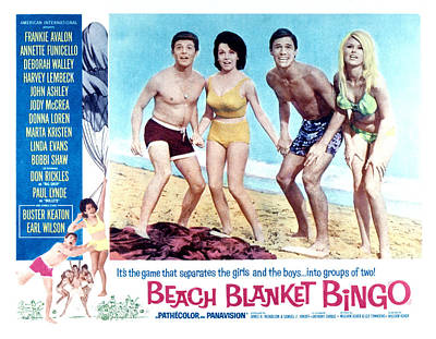 Beach Blanket Bingo, Frankie Avalon Art Print