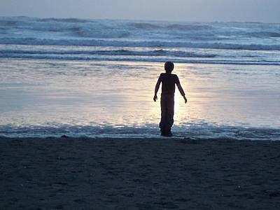 Photograph - Beach Boy Silhouette by Peter Mooyman