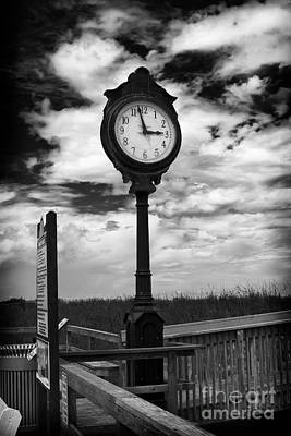 Beach Clock Art Print by Thanh Tran