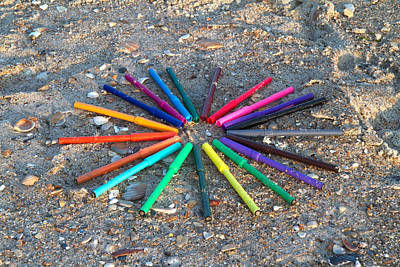 Marker Wall Art - Photograph - Beach Colors by Betsy Knapp