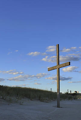 Religious Art Digital Art - Beach Cross by Terry DeLuco