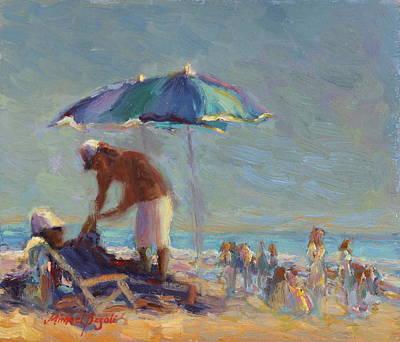 Beach Day Art Print by Michael Besoli