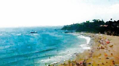 Mixed Media - Beach Day by Paula Greenlee
