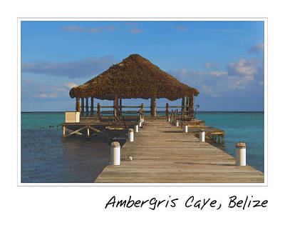 Pier Digital Art - Beach Deck With Palapa Floating In The Water by Brandon Bourdages