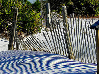 Photograph - Beach Fence by Judy Wanamaker