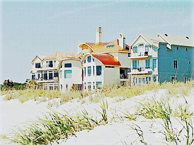 Beach House Art Print by Carol  Bradley