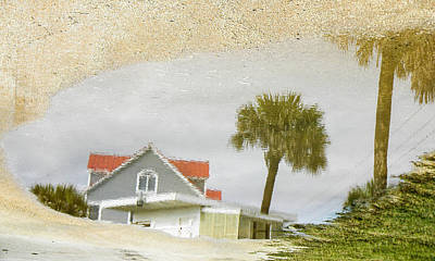 Photograph - Beach House In A Puddle by Christy Usilton