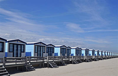 Repetition Photograph - Beach Houses by Leuntje