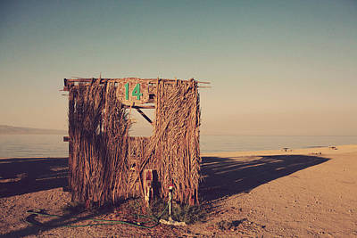 Dilapidated Photograph - Beach Hut Number Fourteen by Laurie Search