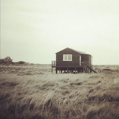 Marsh Photograph - Beach Hut by Tom Crask