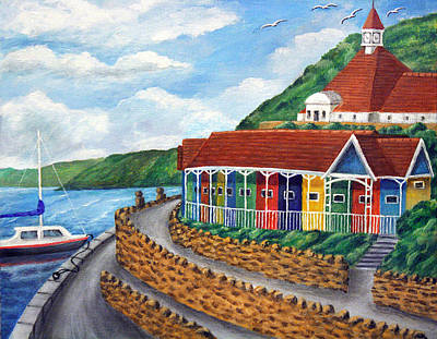 Beach Huts Painting - Beach Huts - Scarborough by Ronald Haber