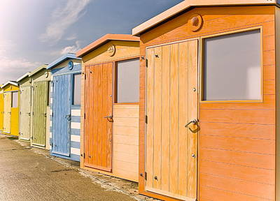 Beach Huts Art Print by Phil Clements