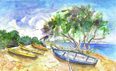 Beach Landscape Drawing - Beach In Ayia Napa by Miki De Goodaboom
