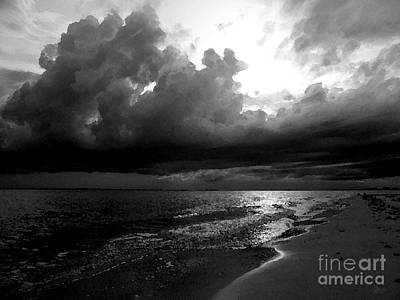 Beach In Black And White Art Print by Jeff Breiman