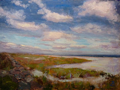 Art Print featuring the painting Beach by Joe Bergholm