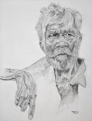 Beach Man Art Print