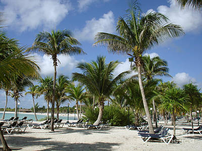 Beach - Mayan Riviera - Mexico -yucatan Peninsula Art Print