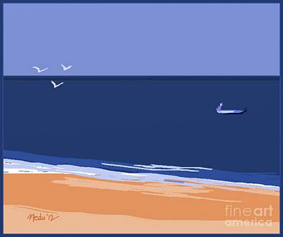 Beach Art Print by Nedunseralathan R
