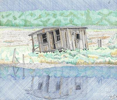 Beach Old Wooden Building Art Print