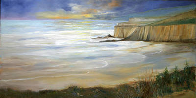 Painting - Beach On Highway One by Max Mckenzie