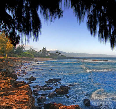 Beach On North Shore Of Oahu Art Print