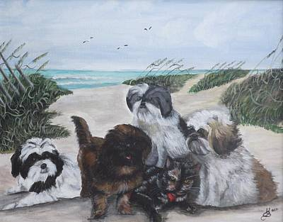 Beach Pals Art Print by Kim Selig